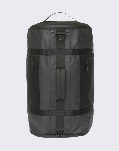 Enter Research Hiker Duffel Black Waterproof/Black Heavy Nylon/ Black Leather