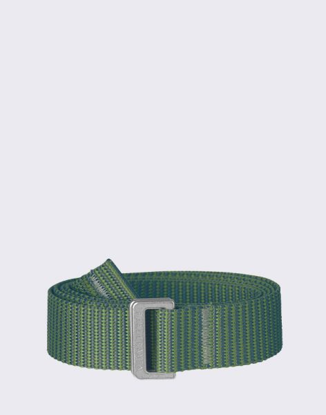 Fjällräven Striped Webbing Belt 618-664 Fern-Frost Green