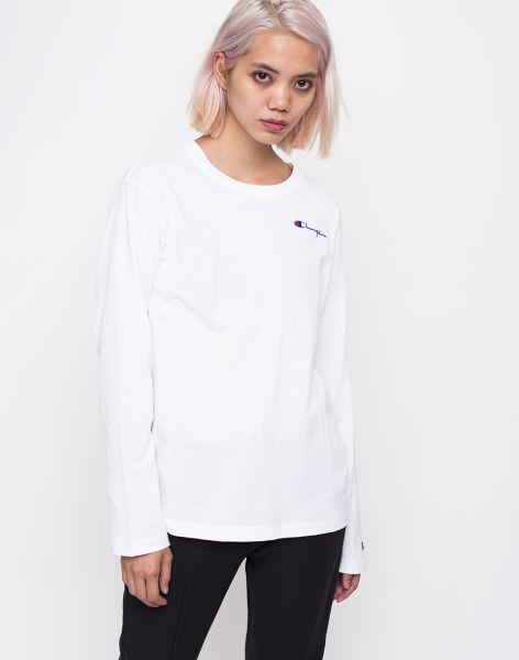 Champion Long Sleeve T-Shirt WHT L
