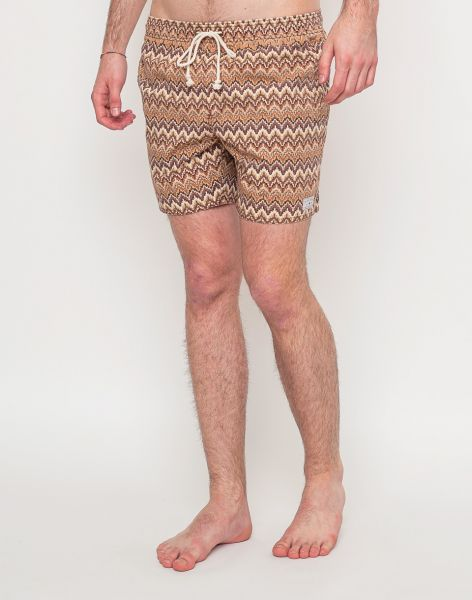 Afends Baywatch Crochet Brown 36