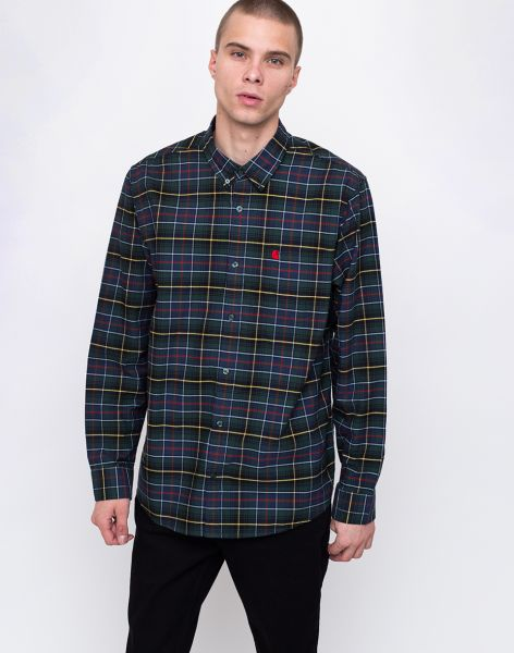 Carhartt WIP Patton Patton Check, Cedar / Red L