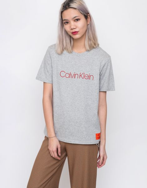 Calvin Klein CREW NECK GREY HEATHER L
