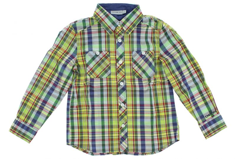 Košile dětská Geox   Zelená Vícebarevná   Chlapecké   6 let