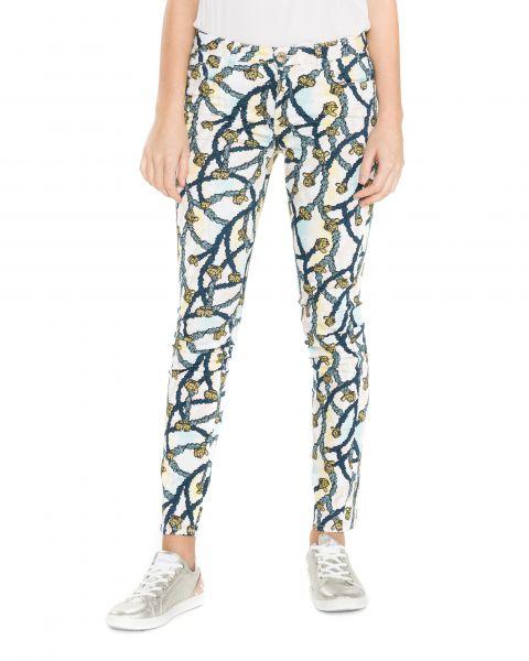 260 Kalhoty Trussardi Jeans | Modrá Žlutá Bílá | Dámské | 30