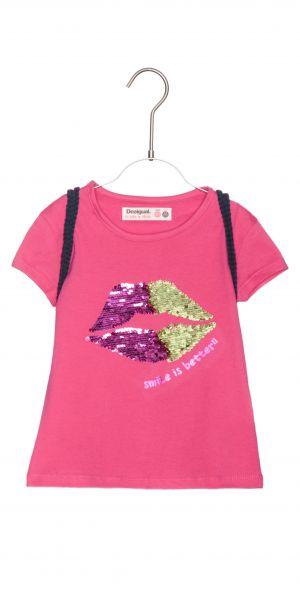 Halifax Triko dětské Desigual   Růžová   Dívčí   7-8 let