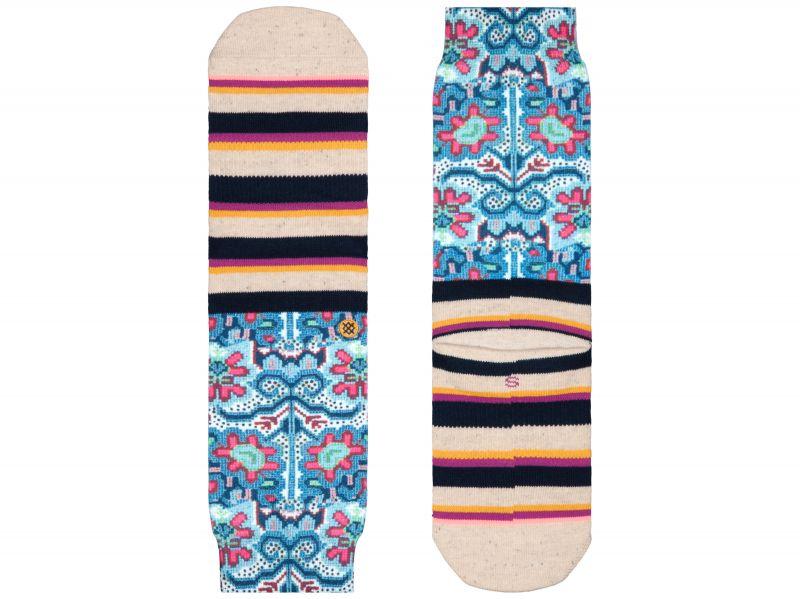 Bella Vida Tomboy Ponožky Stance   Modrá Béžová Vícebarevná   Dámské   35-37