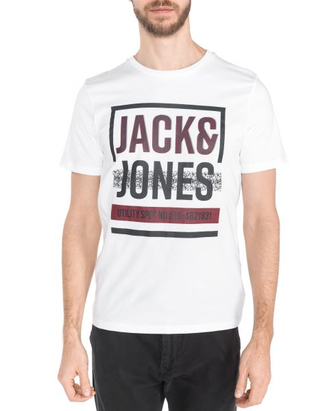 Abstract Triko Jack & Jones | Bílá | Pánské | XXL
